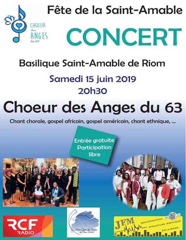 La chorale Choeur des Anges 63 à la fête de la Saint-Amable