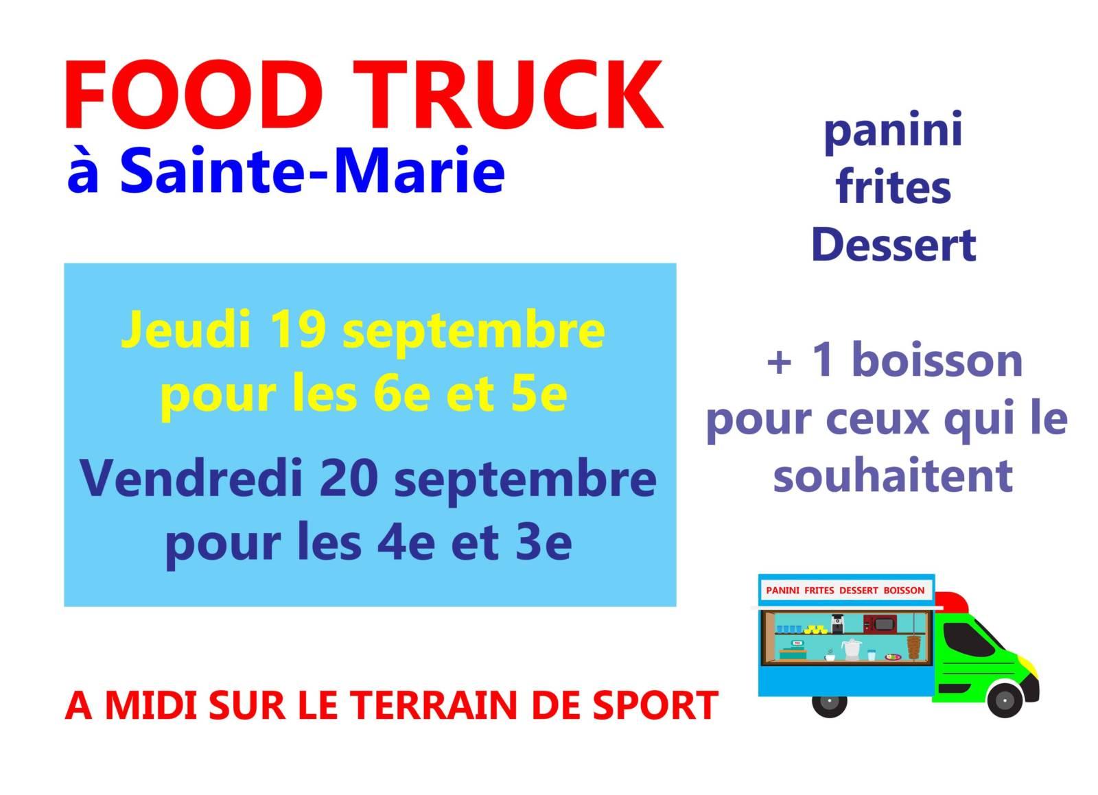 Food truck 19 et 20 septembre